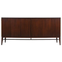 "Paul McCobb ""Irwin Collection"" Dresser with Bi-Folding Doors & Marble Top"