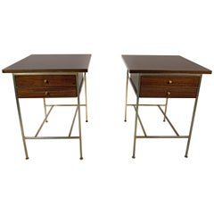 Paul McCobb Irwin Collection Mahogany End Tables or Nightstands