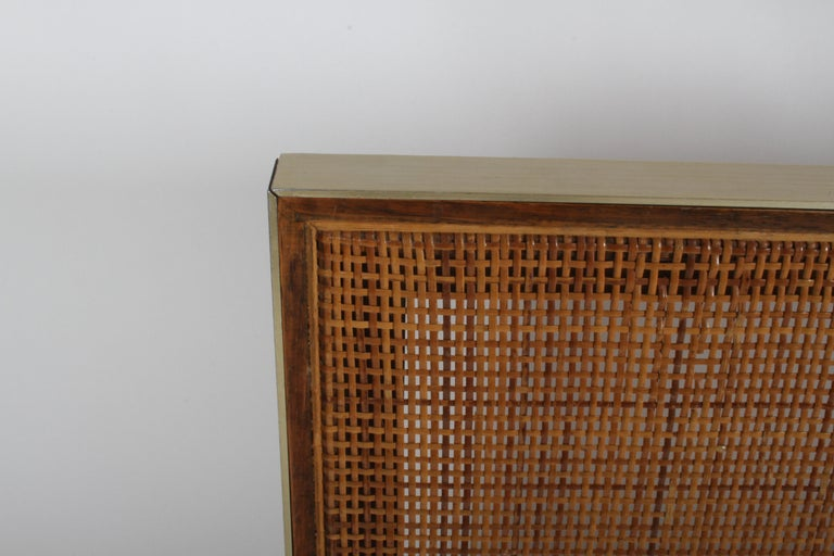 Mid-Century Modern Paul McCobb King Headboard for Calvin with Caned Panels For Sale