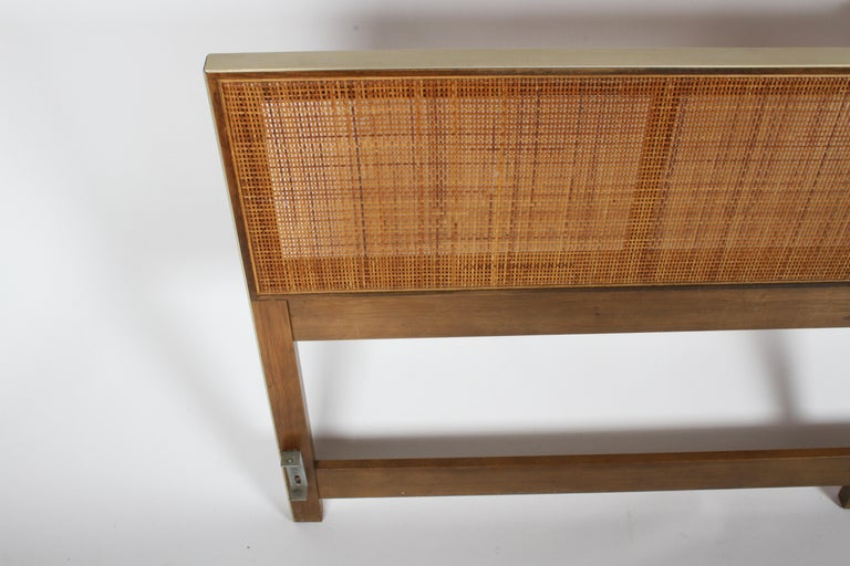 American Paul McCobb King Headboard for Calvin with Caned Panels For Sale