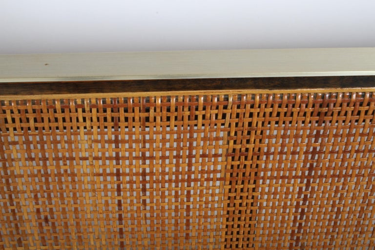 Paul McCobb King Headboard for Calvin with Caned Panels In Good Condition For Sale In St. Louis, MO
