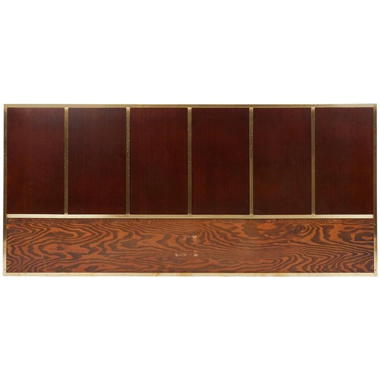Paul McCobb King-Size Brass Frame Headboard For Sale