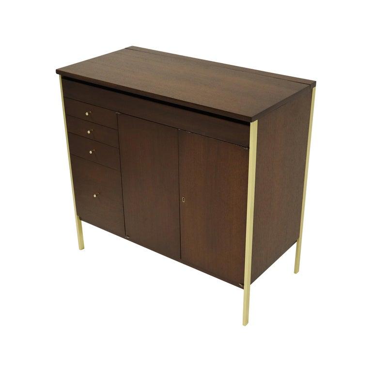 Paul McCobb Locking Bar Cabinet Dresser For Sale
