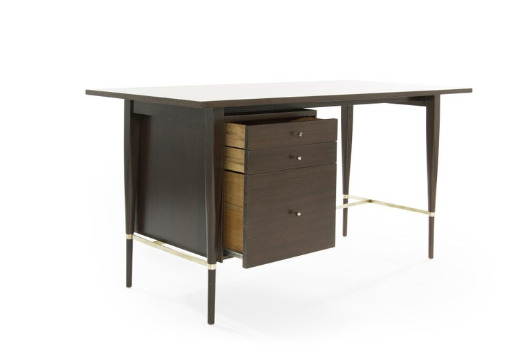 American Paul McCobb Mahogany Desk, Calvin Collection, circa 1950s For Sale