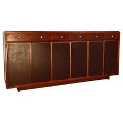 Paul McCobb Mahogany Sideboard Midcentury Vintage Design Black Front Doors