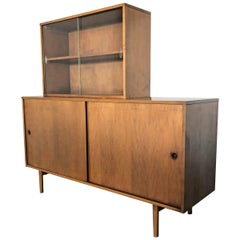 Paul McCobb Maple Credenza Wall Unit