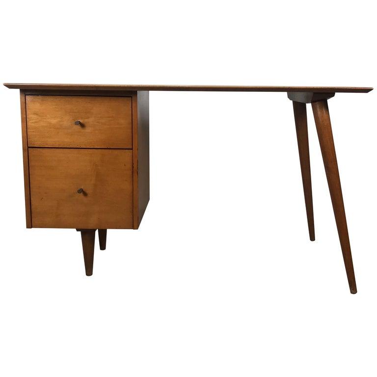 Paul McCobb Maple Planner Group Desk For Sale
