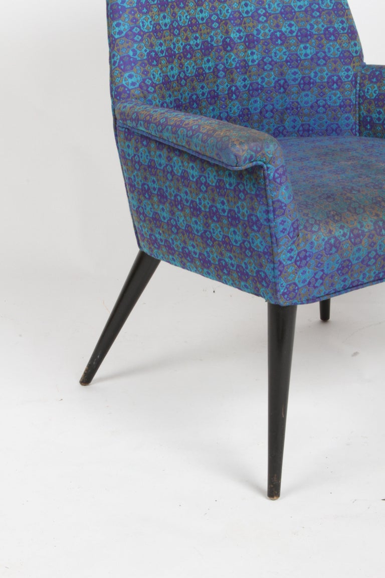 Paul McCobb Mid-Century Modern Armchair Model 3049 with Tapered Splayed Legs In Good Condition For Sale In St. Louis, MO