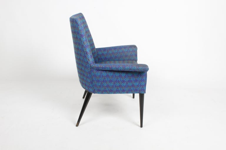 Fabric Paul McCobb Mid-Century Modern Armchair Model 3049 with Tapered Splayed Legs For Sale