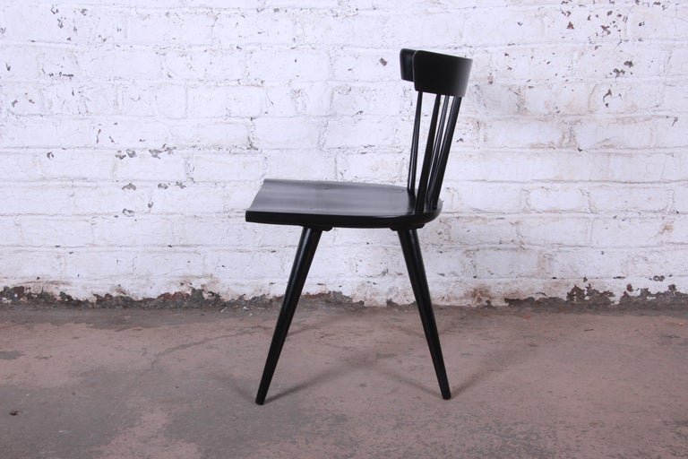 Paul McCobb Mid-Century Modern Ebonized Planner Group Dining Chairs, Set of Ten For Sale 4