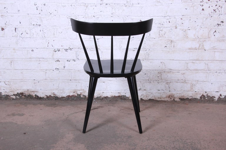 Paul McCobb Mid-Century Modern Ebonized Planner Group Dining Chairs, Set of Ten For Sale 5