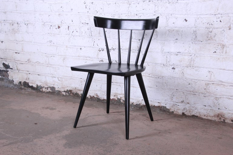 Paul McCobb Mid-Century Modern Ebonized Planner Group Dining Chairs, Set of Ten For Sale 8