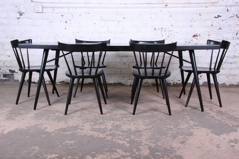 Paul McCobb Mid-Century Modern Ebonized Planner Group Dining Chairs, Set of Ten For Sale 9