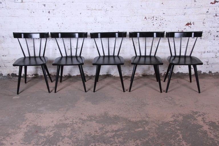 Mid-20th Century Paul McCobb Mid-Century Modern Ebonized Planner Group Dining Chairs, Set of Ten For Sale