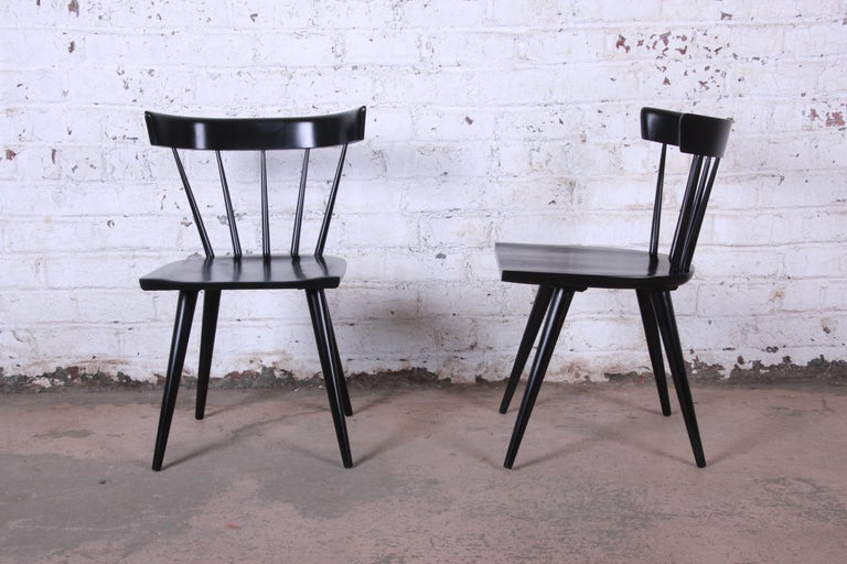 Paul McCobb Mid-Century Modern Ebonized Planner Group Dining Chairs, Set of Ten For Sale 2