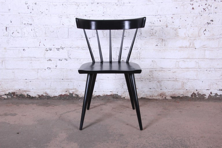 Paul McCobb Mid-Century Modern Ebonized Planner Group Dining Chairs, Set of Ten For Sale 3