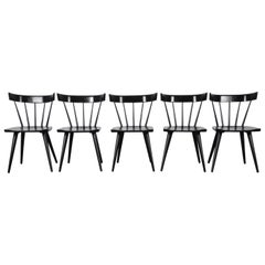 Paul McCobb Mid-Century Modern Ebonized Planner Group Dining Chairs, Set of Ten
