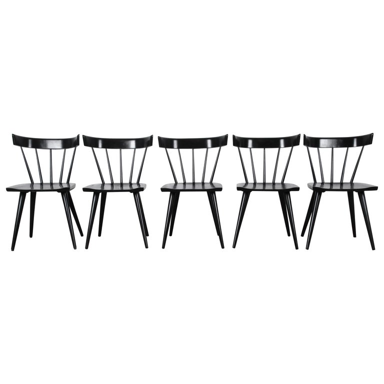 Paul McCobb Mid-Century Modern Ebonized Planner Group Dining Chairs, Set of Ten For Sale