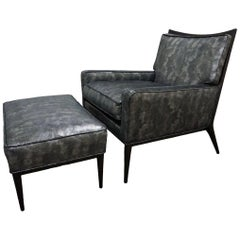 Paul McCobb Model 1322 Lounge Chair and Ottoman for Directional Furniture