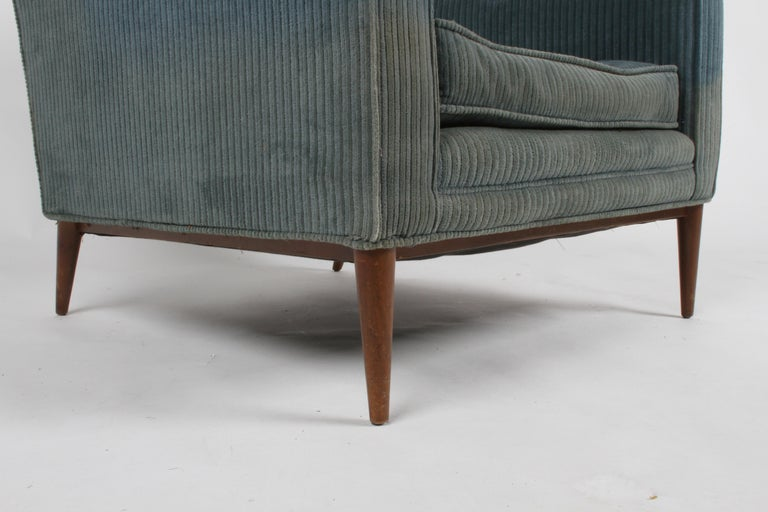 Paul McCobb Model 302 Mid-Century Modern Lounge or Club Chair for Directional In Good Condition For Sale In St. Louis, MO