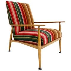 Paul McCobb Model 3041 Lounge Chair in vintage Guatemalan Fabric