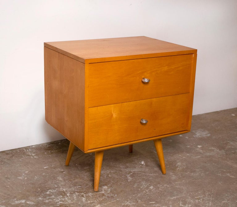 20th Century Paul McCobb Nightstands Planner Group Series Solid Maple for Winchendon For Sale