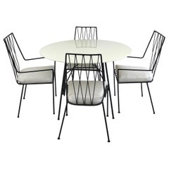 Paul McCobb Pavilion Collection Set of Four Patio Chairs with Table, circa 1950s