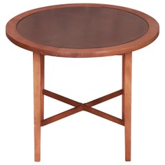Paul McCobb Perimeter Group Leather Top Occasional Side Table, 1950s