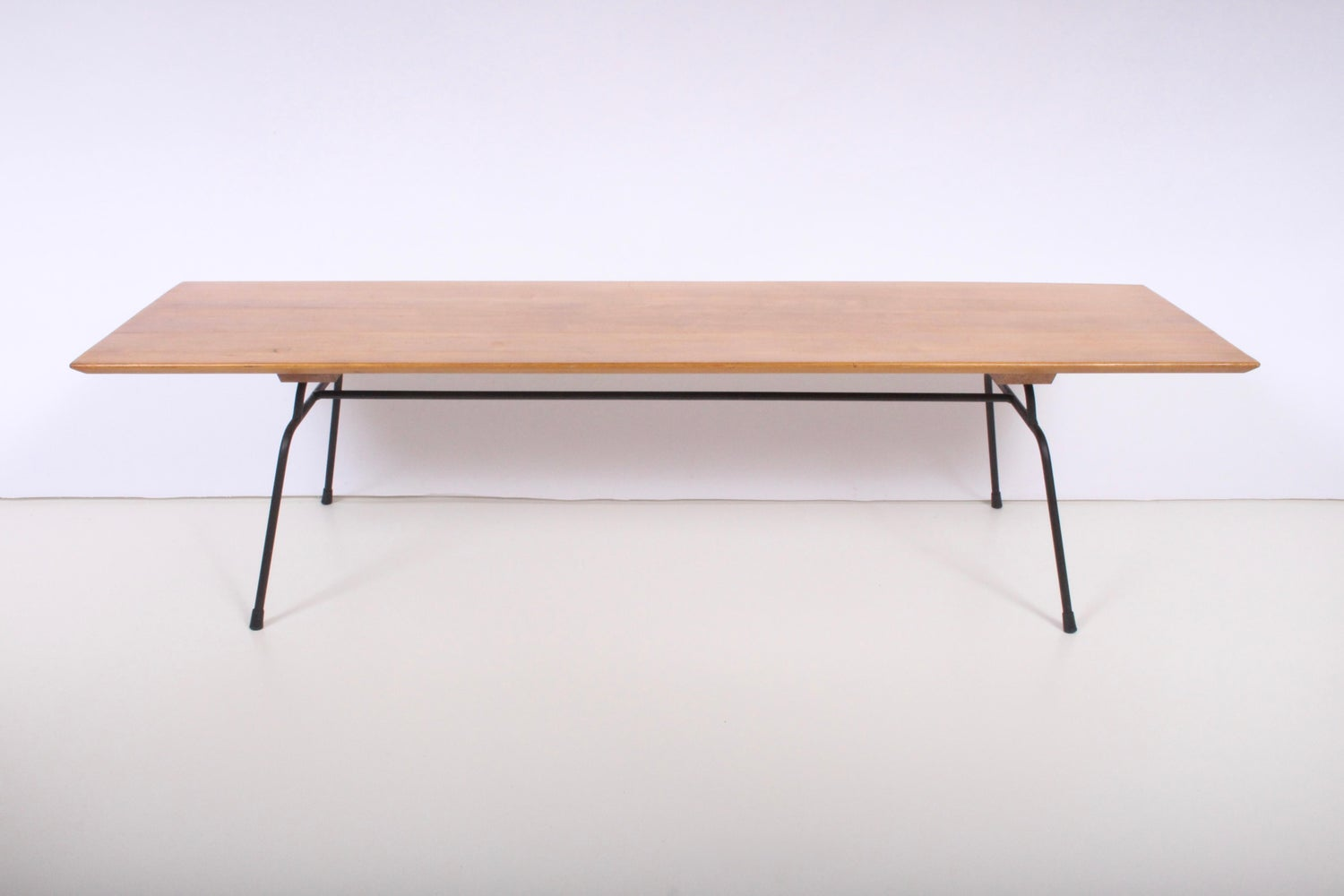 Paul mccobb planner group birch and wrought iron coffee table circa 1950 for sale at 1stdibs
