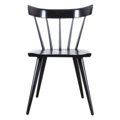 Paul McCobb Planner Group Black Lacquered Spindle Back Dining Chair, Restored