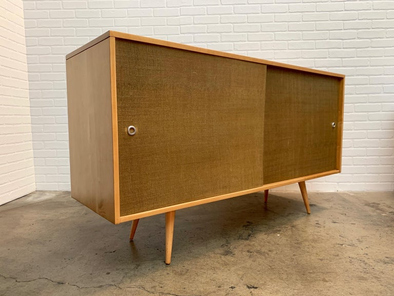 Newly restored Paul McCobb for Winchendon credenza in solid maple.
