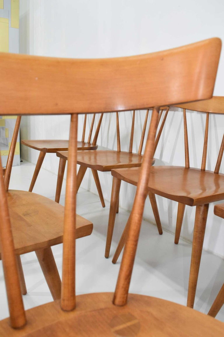 Mid-Century Modern Paul McCobb Planner Group Dining Chairs, Set of Eight, 1950s For Sale