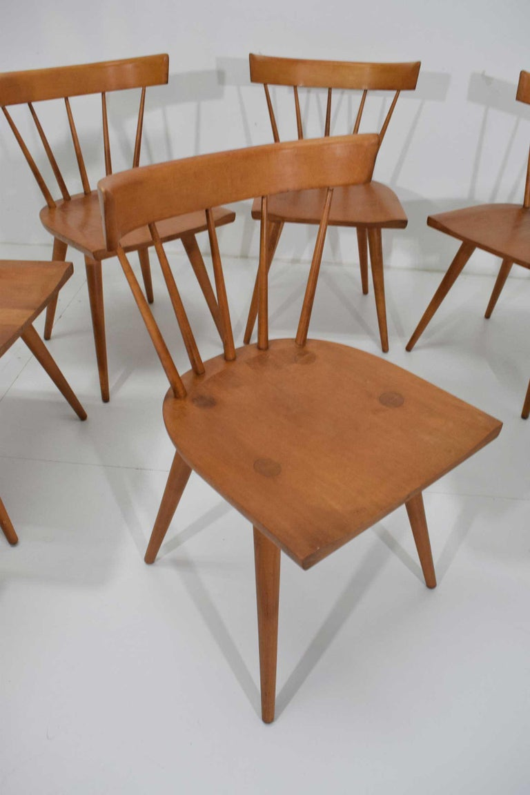 North American Paul McCobb Planner Group Dining Chairs, Set of Eight, 1950s For Sale