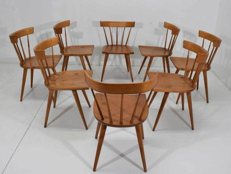 Maple Paul McCobb Planner Group Dining Chairs, Set of Eight, 1950s For Sale