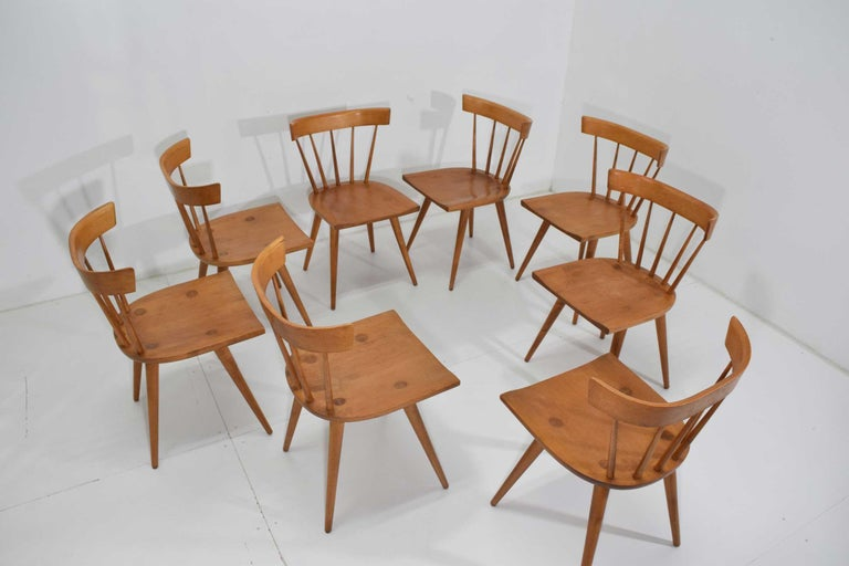 Paul McCobb Planner Group Dining Chairs, Set of Eight, 1950s For Sale 1