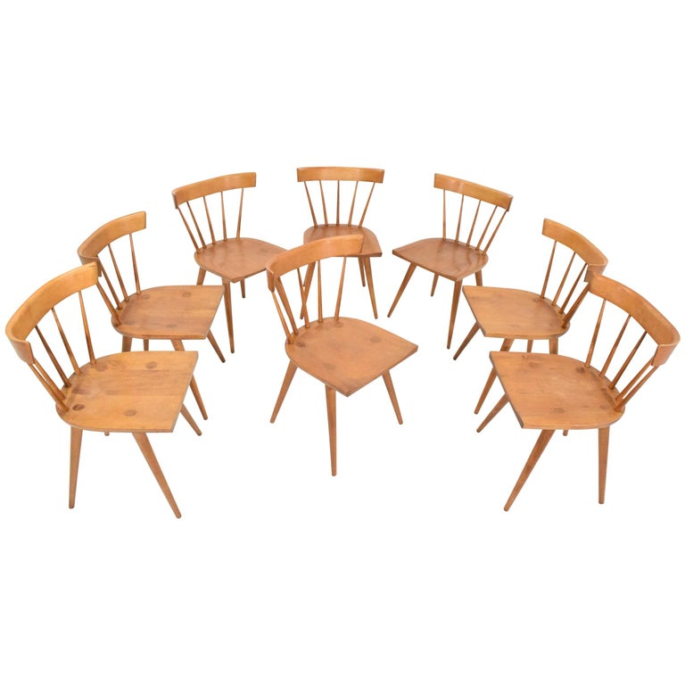 Paul McCobb Planner Group Dining Chairs, Set of Eight, 1950s For Sale