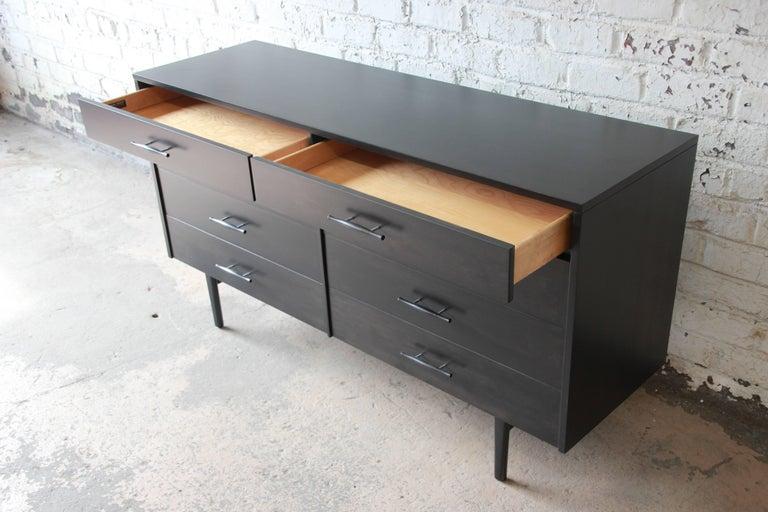 Paul McCobb Planner Group Ebonized Eight-Drawer Dresser or Credenza For Sale 1