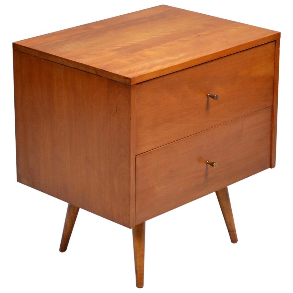 Paul McCobb Planner Group for Winchendon 2 Drawer Nightstand, Circa 1950s