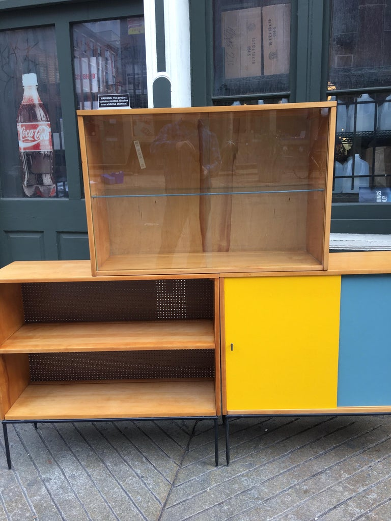 Mid-Century Modern Paul McCobb Planner Group for Winchendon 3 Piece Bookcase For Sale
