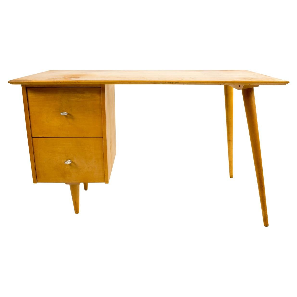 Paul McCobb Planner Group for Winchendon Mid Century 2 Drawer Birch Desk