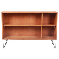 Paul McCobb Planner Group Glass Front Bookcase on Hairpin Legs, 1950s
