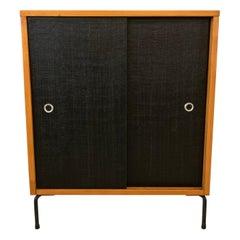 Paul McCobb Planner Group Maple Sliding Door Cabinet