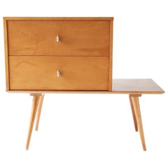 Paul McCobb Planner Group Maple Two-Drawer Chest on Stand, 1950s