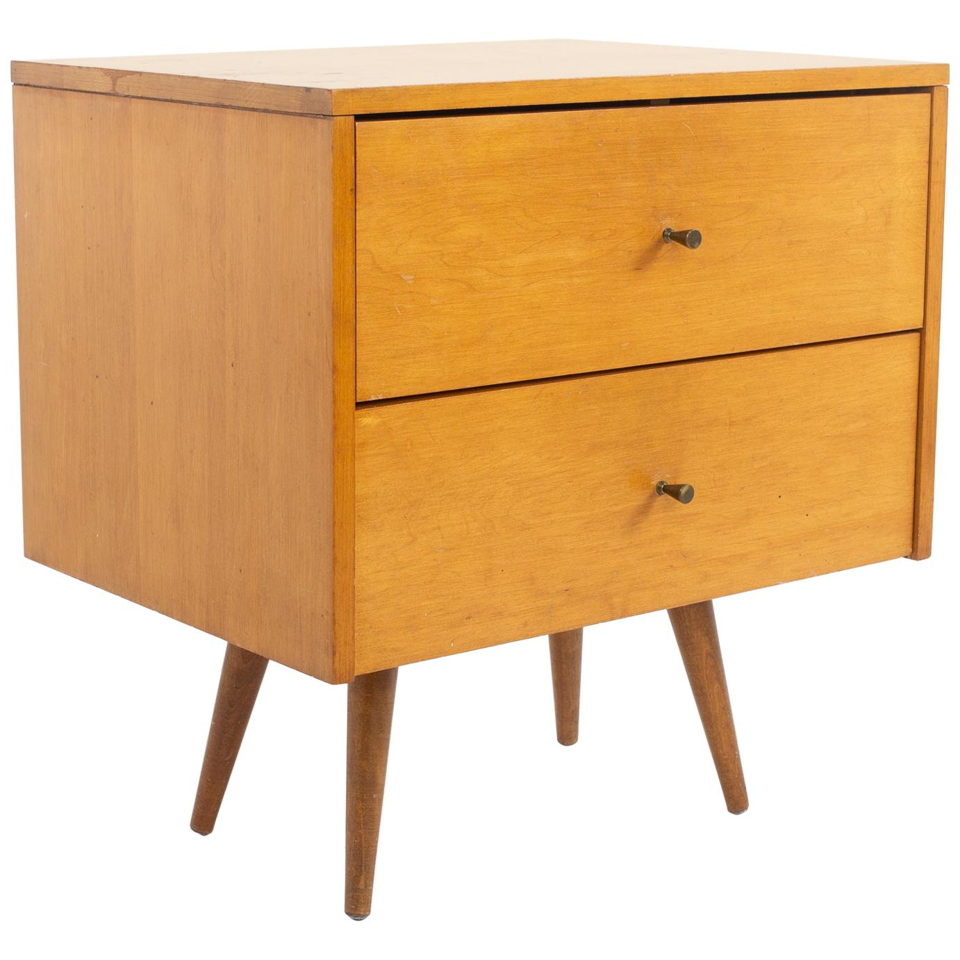Paul McCobb Planner Group Mid Century 2 Drawer Nightstand