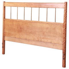 Paul McCobb Planner Group Mid-Century Modern Birch and Brass Full Size Headboard