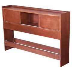 Paul McCobb Planner Group Mid-Century Modern Birch Full Size Bookcase Headboard