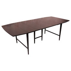 Paul McCobb Planner Group Mid-Century Modern Black Lacquered Dining Table, 1950s