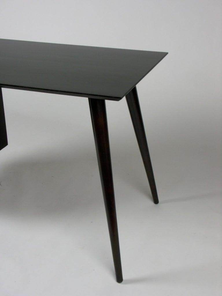 Mid-20th Century Paul McCobb Planner Group Mid-Century Modern Desk in Dark Espresso For Sale