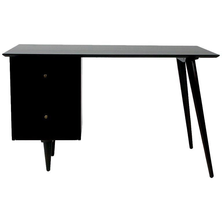 Paul McCobb Planner Group Mid-Century Modern Desk in Dark Espresso For Sale
