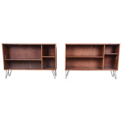 Paul McCobb Planner Group Mid-Century Modern Glass Front Bookcases, Pair